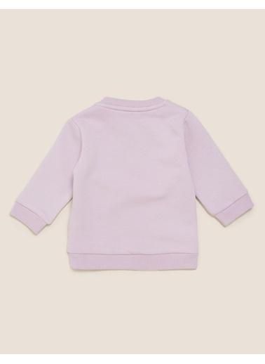Marks & Spencer Kuş Desenli Sweatshirt Mor